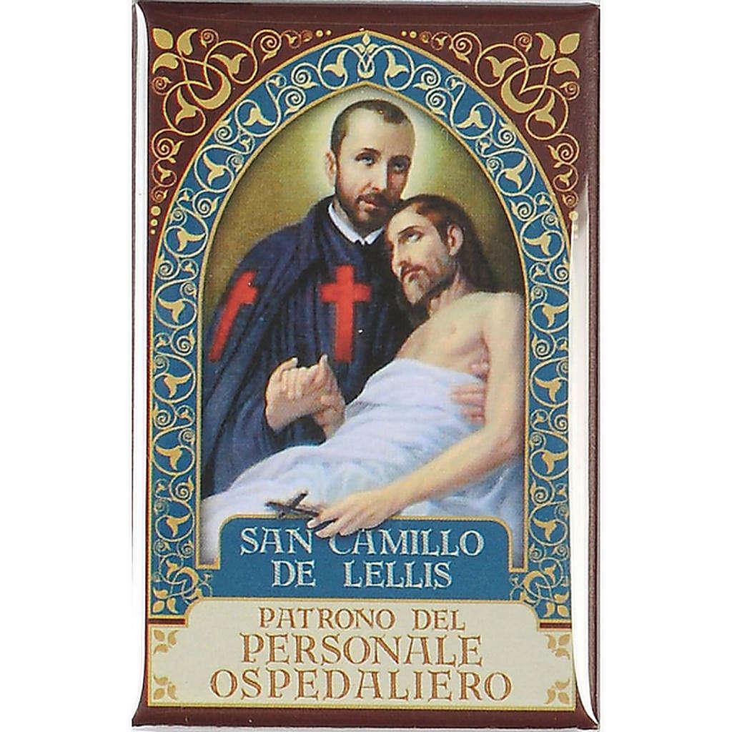 Saint Camillo de Lellis badge, gold 3