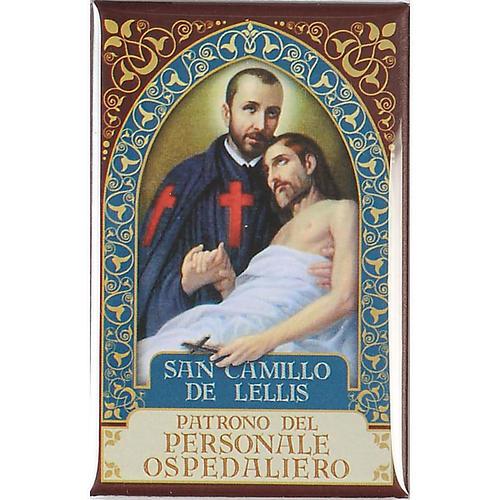 Saint Camillo de Lellis badge, gold 1