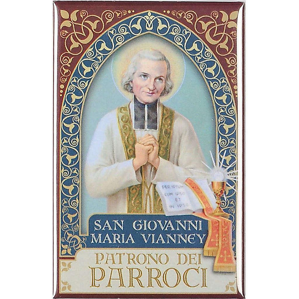 Magnete San Giovanni Maria Vianney oro 3