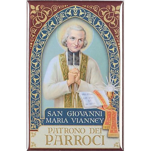Saint John maria Vianney plaque, gold 1