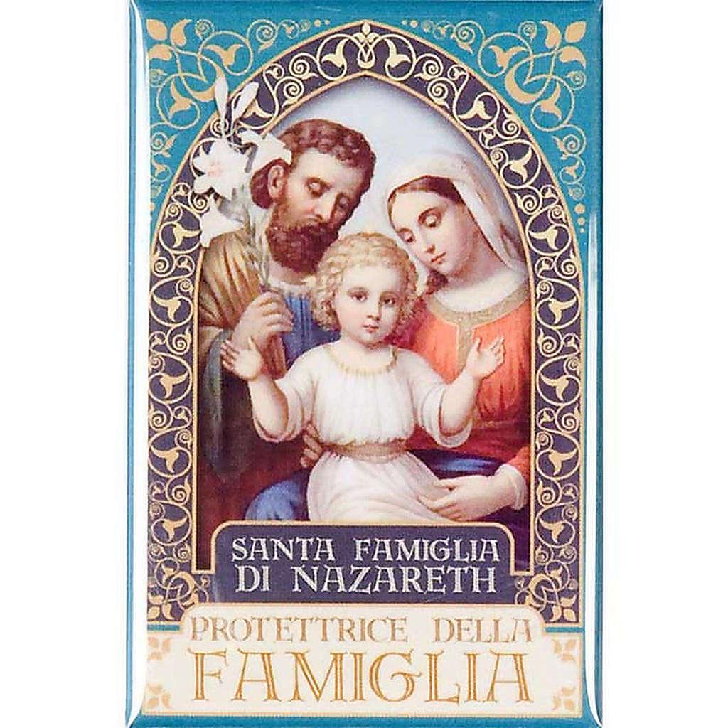 Magnete Santa Famiglia di Nazareth oro 3