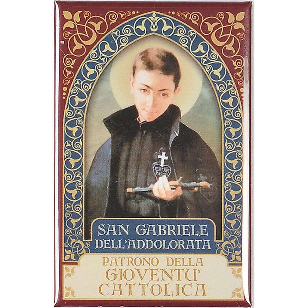 Magnete San Gabriele dell'Addolorata oro 3