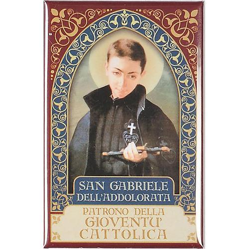 Magnete San Gabriele dell'Addolorata oro 2