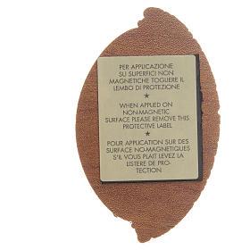 STOCK Calamita ovale logo Giubileo Misericordia 8x5,5 cm s2