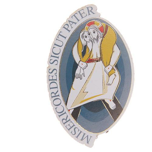 STOCK Calamita ovale logo Giubileo Misericordia 8x5,5 cm 1
