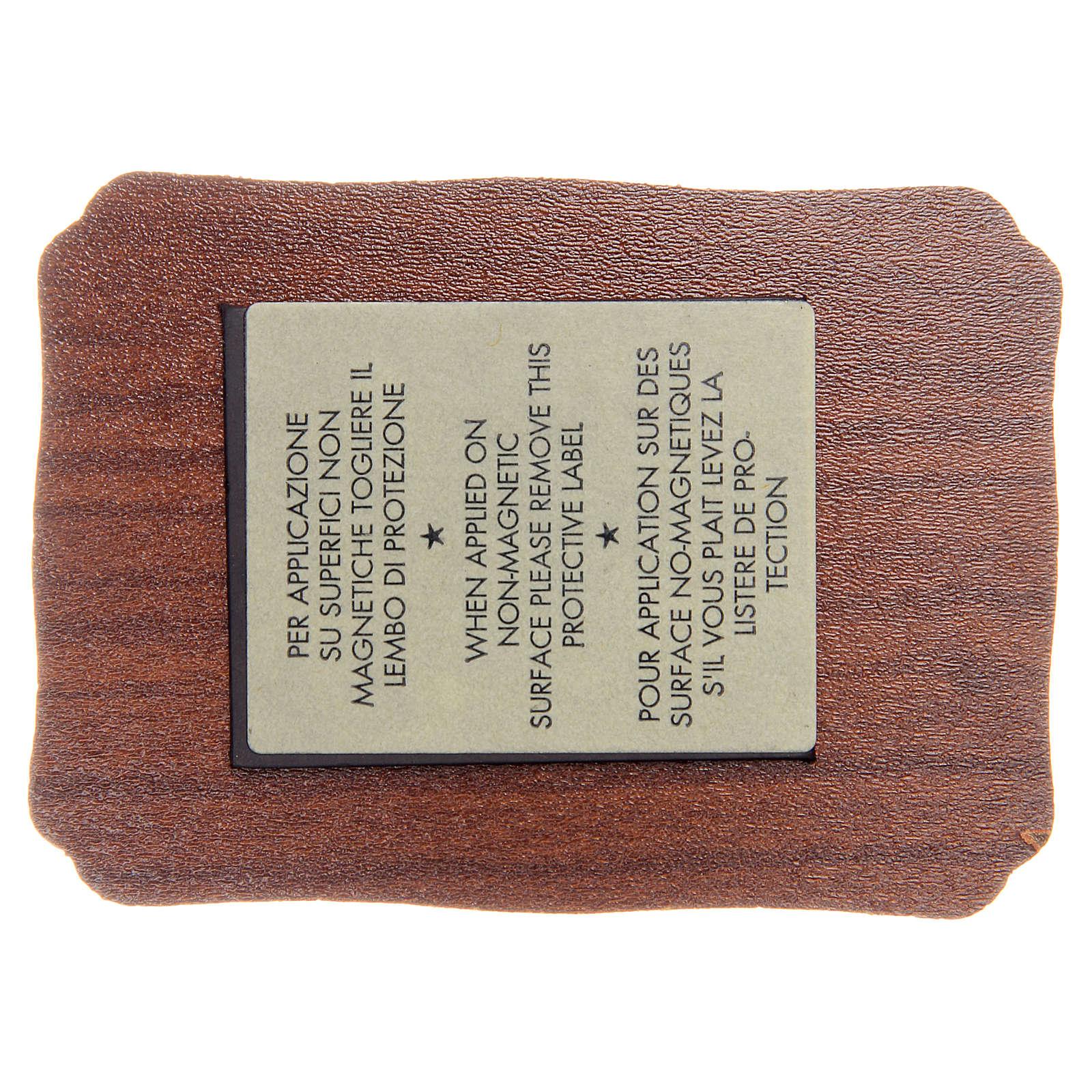 STOCK Imán 3 Papas madera pergamino cm 8x5,5 FRANCÉS 3