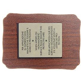 STOCK magnes 3 Papieży drewno pergamin 8 X 5,5cm francuski s2