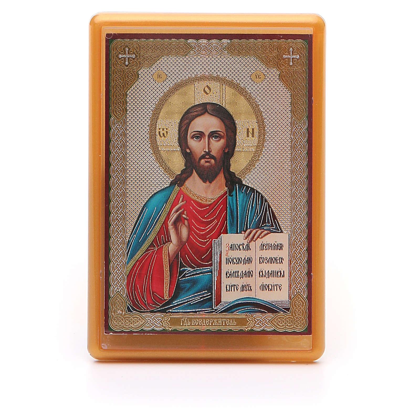 Íman russo acrílico Cristo Pantocrator 10x7 cm 3