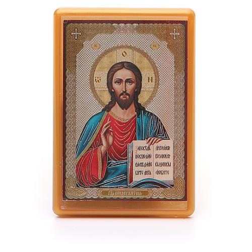Íman russo acrílico Cristo Pantocrator 10x7 cm 1