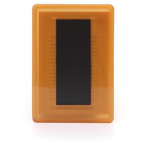 Aimant russe plexiglas Saint Nicolas 10x7 cm 2
