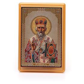 Magnet plexiglass russian St. Nicholas 10x7cm s1