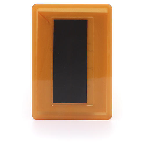 Aimant russe plexiglas Lis Blanc 10x7 cm 2