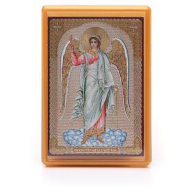 Magnets religieux: Aimant russe plexiglas Ange Gardien 10x7 cm