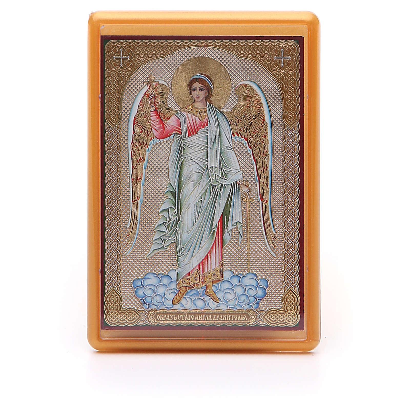 Magnet plexiglass russian Guardian Angel 10x7cm 3