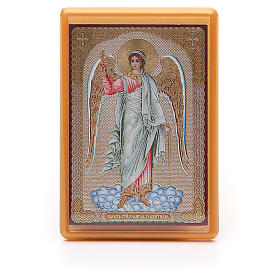 Religious Magnets: Magnet plexiglass russian Guardian Angel 10x7cm