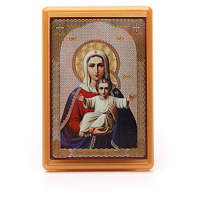 Religious Magnets: Magnet plexiglass russian I'm with you and no one against 10x7cm