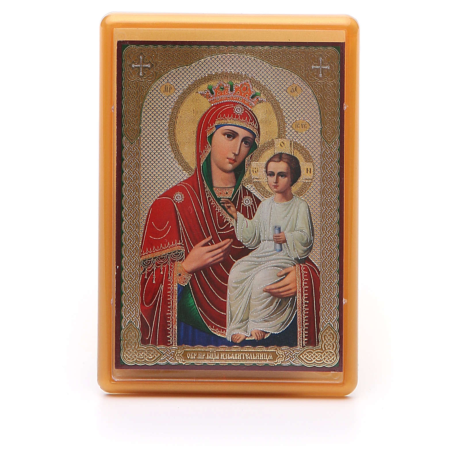 Magnet plexiglass russian Liberating Virgin 10x7cm 3