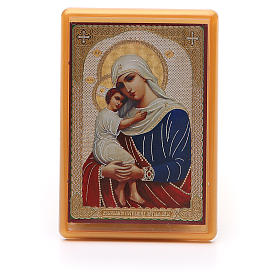 Religious Magnets: Magnet plexiglass russian Protectrice of Fallen 10x7cm