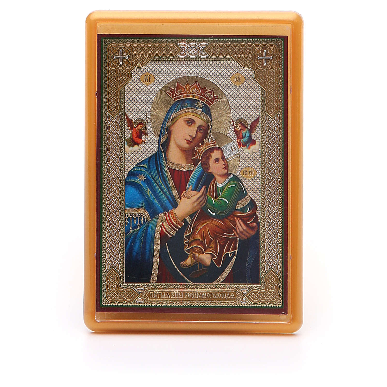 Magnet plexiglass russian Our Lady of Perpetual Help 10x7cm 3