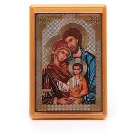 Religious Magnets: Magnet plexiglass russian Holy Family 10x7cm