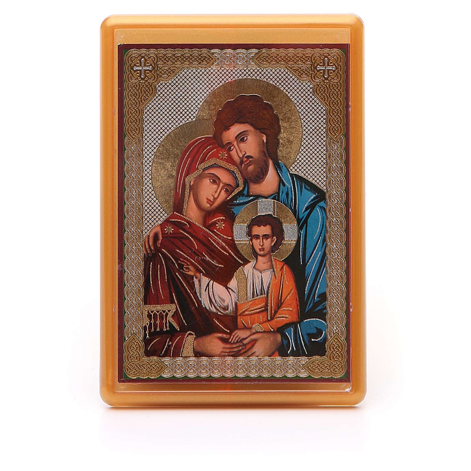 Magnet plexiglass russian Holy Family 10x7cm 3
