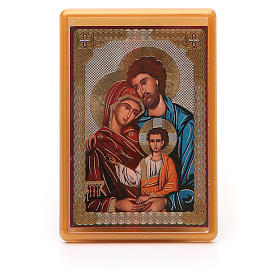 Religious Magnets: Magnet plexiglass russian Holy Family 10x7cm