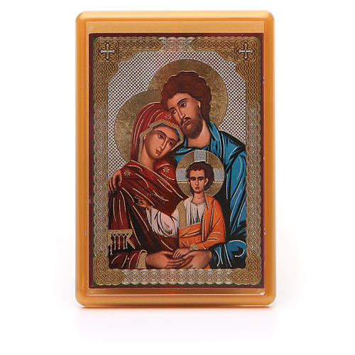 Magnet plexiglass russian Holy Family 10x7cm 1