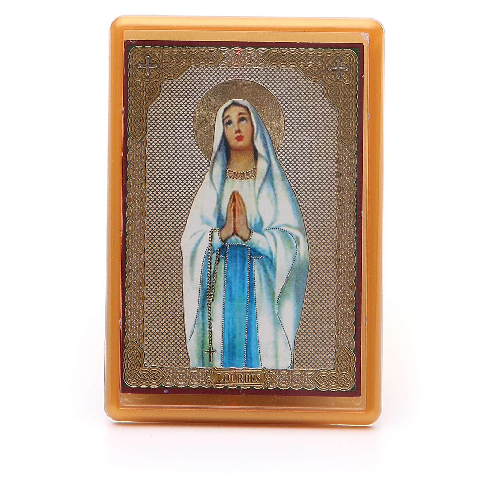 Imán plexiglás Virgen Lourdes 10x7 3