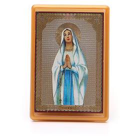 Imán plexiglás Virgen Lourdes 10x7 s1