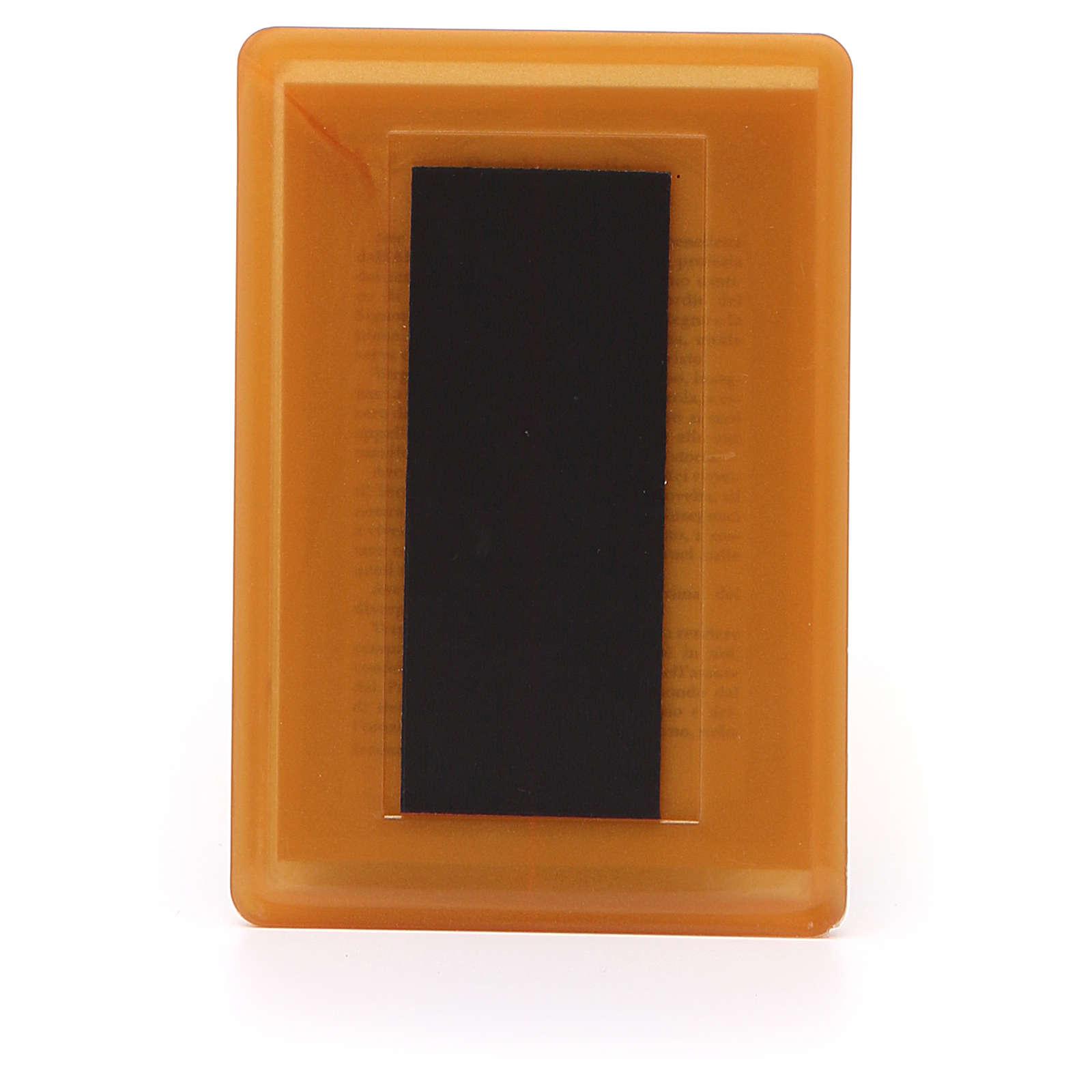Magnete plexiglass Madonna Lourdes 10x7 3