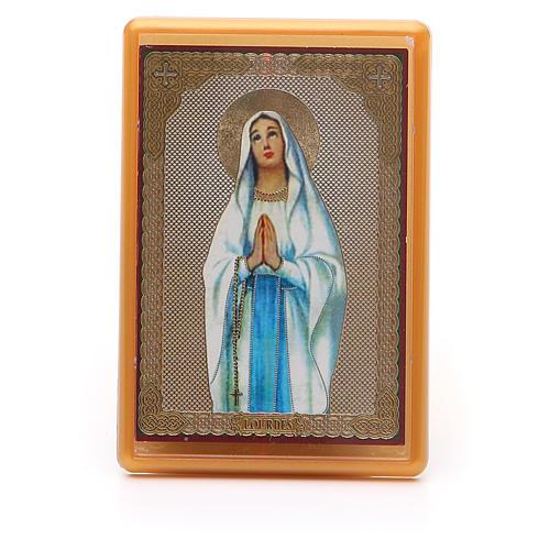 Magnet plexiglass russian Our Lady of Lourdes 10x7cm 1