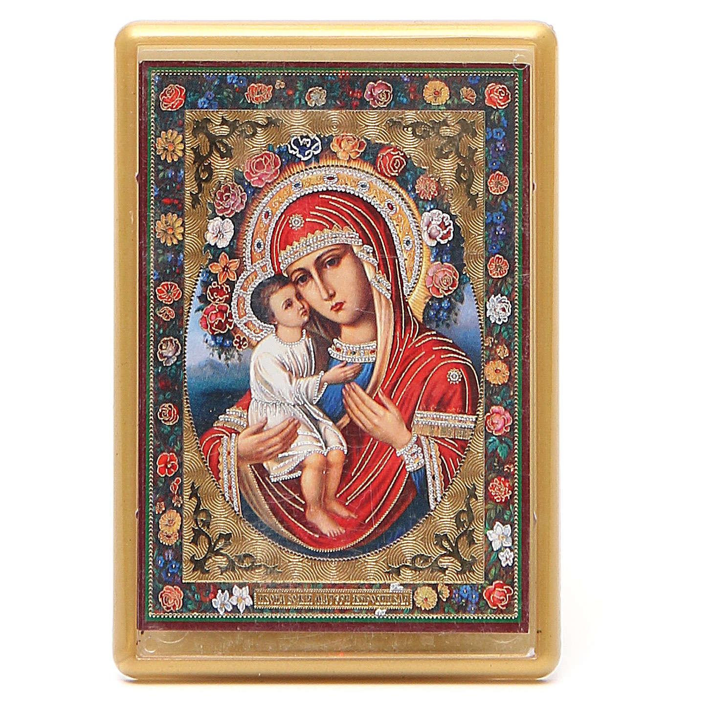 Magnet Virgin Mary Zhirovitskaya in plexiglass, 10x7cm 3