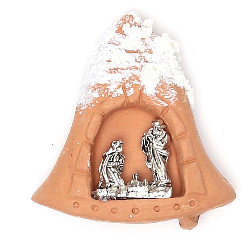 Imán terracota Natividad nieve 1