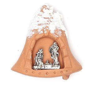 Ímanes de Santos, Nossa Senhora e Papas: Íman terracota Natividade neve