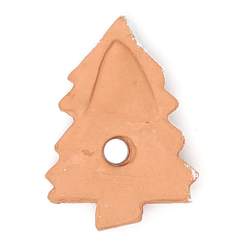 Imán terracota Árbol Navidad 2