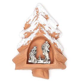 Ímanes de Santos, Nossa Senhora e Papas: Íman terracota Árvore de Natal
