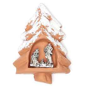 Religious Magnets: Magnet terracotta Christmas Tree