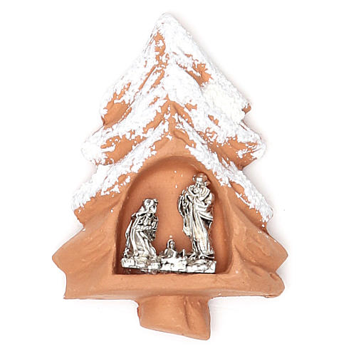 Magnet terracotta Christmas Tree 1