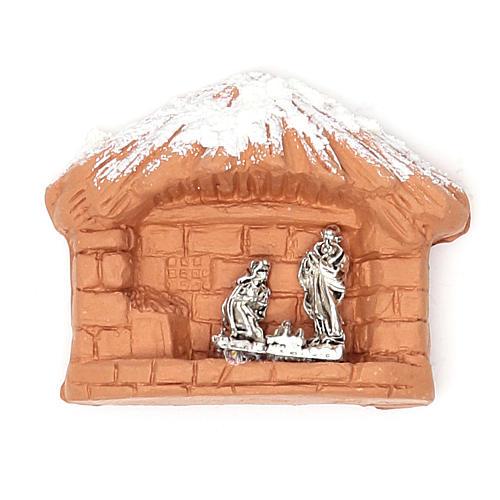 Magnet terracotta Nativity 1