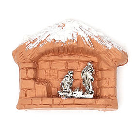 Religious Magnets: Magnet terracotta Nativity