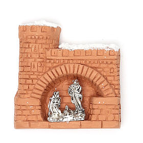 Religious Magnets: Magnet terracotta Castle snow
