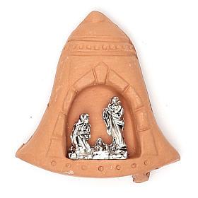 Imán campana terracota Natividad s1