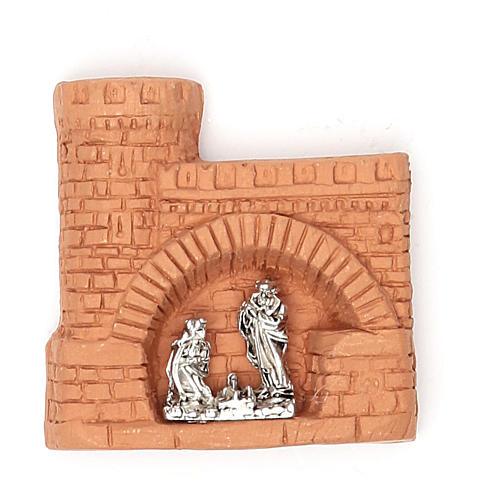 Magnete terracotta castello 1