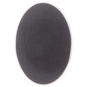 Magnete in vetro ovale con Madonna di Fatima s2