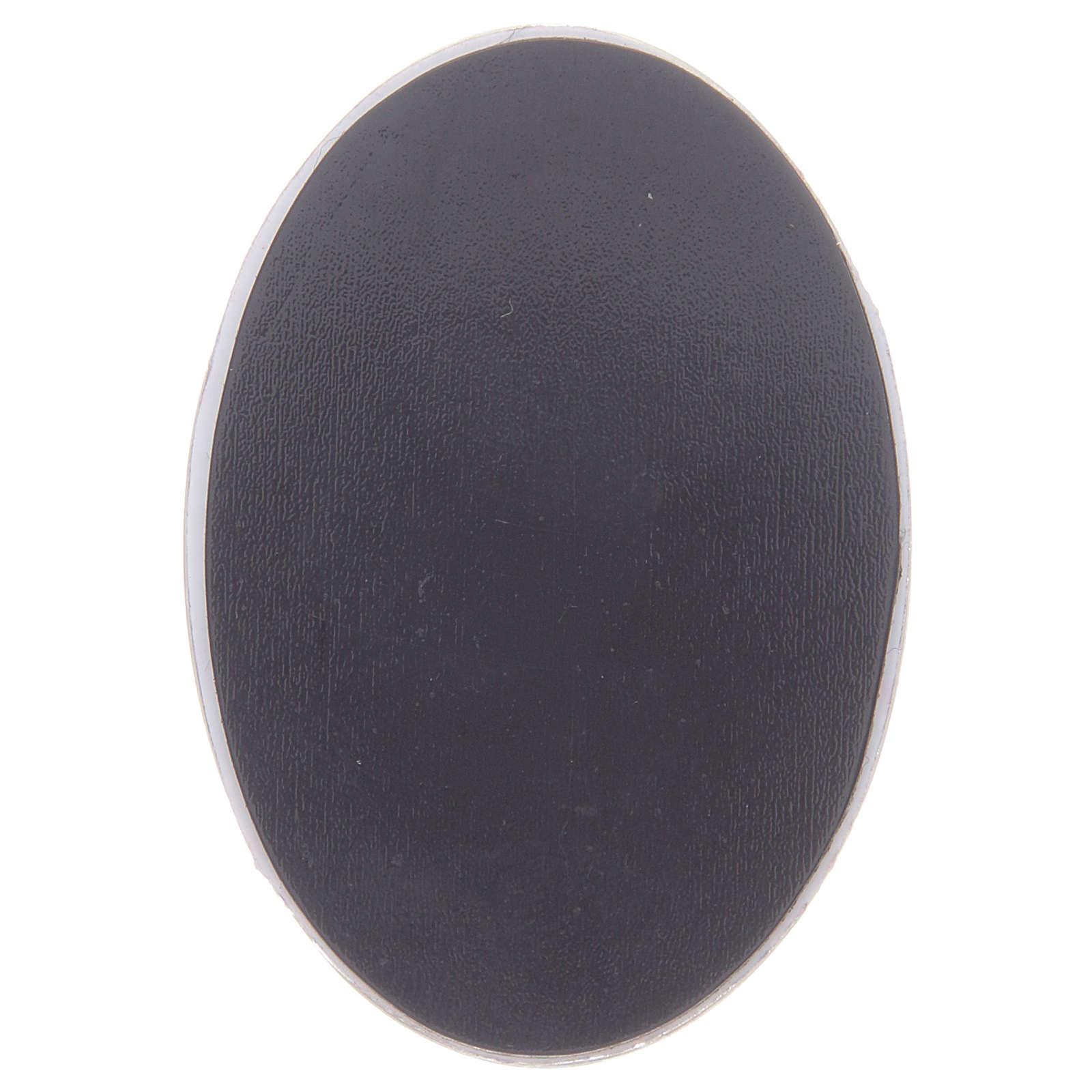 Magnete in vetro ovale con Madonna di Lourdes 3