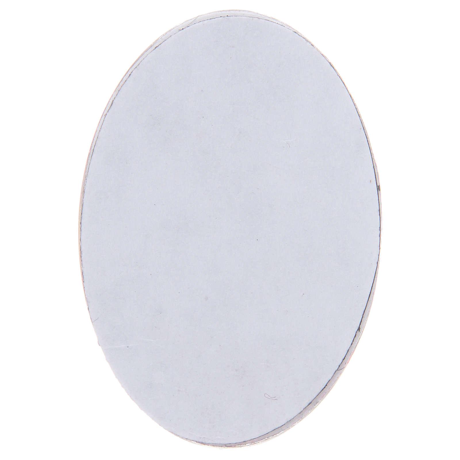 Magnete in vetro ovale con Angelo Custode 3