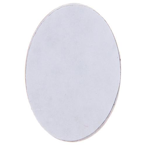 Magnete in vetro ovale con Angelo Custode 2