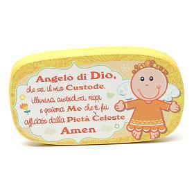 Magnete in legno Angelo di Dio Giallo s1