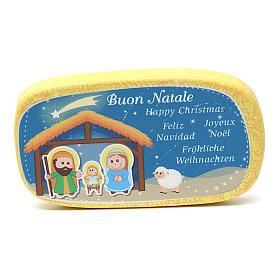 Magnete in legno Buon Natale Giallo s1