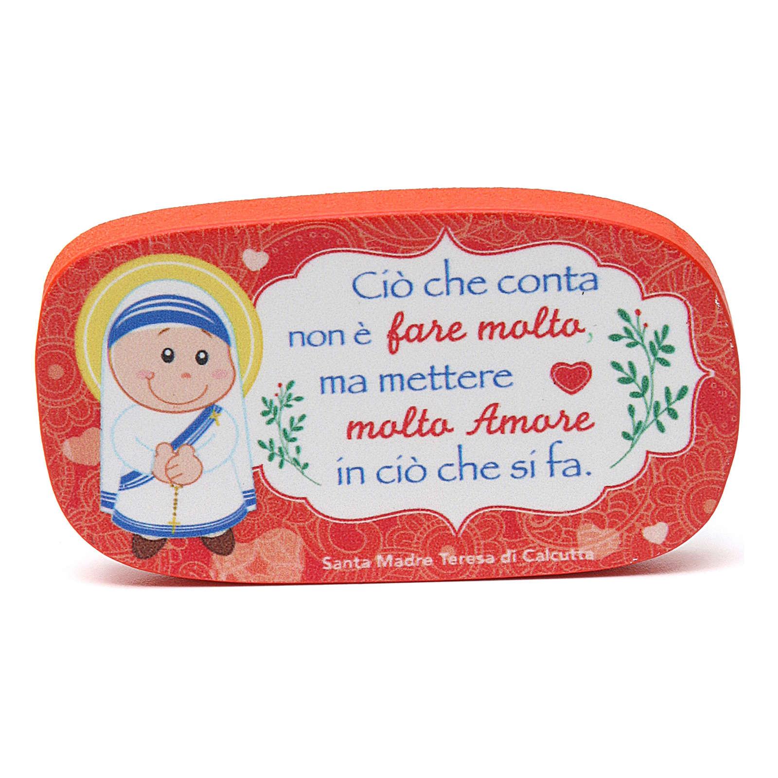Wooden magnet of Mother Teresa of Calcutta 3